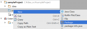 IDEA_CreatePackage
